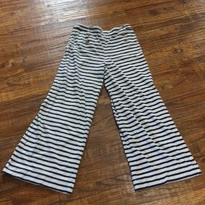 Free People blue and cream striped pants
